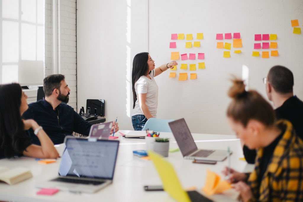 Cross-functional teams meet regularly