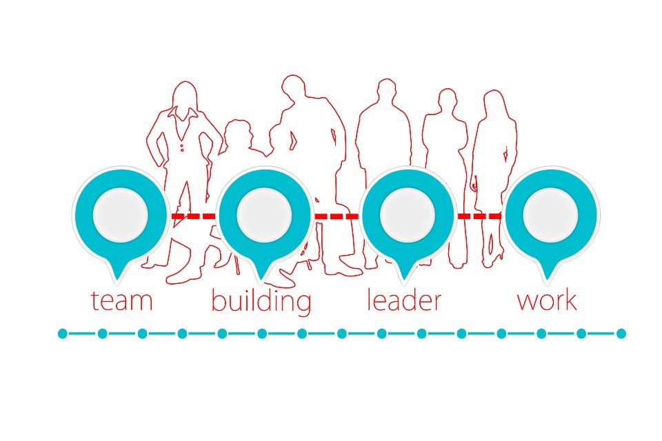 team - building - leader - working together